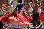 Danseurs au carnaval, Sucre, en Bolivie, en Amérique du Sud