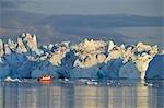 Boot, Disko-Bucht, Ilulissat Icefjord, Jacobshavn Gletscher, Ilulissat, Qaasuitsup, Grönland-Tour