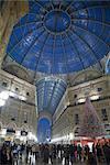 Vittorio Emanuele's Gallery, Milan, Lombardy, Italy, Europe