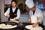 Dumpling cook, Shanghai, China, Asia