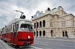 Streetcar in front of Vienna State Opera, Vienna, Austria