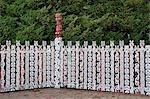 Maori Art, Government Gardens, Rotorua, Bay of Plenty, North Island, New Zealand