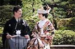 Mariée et le marié, Kanazawa, préfecture d'Ishikawa, région de Chubu, Honshu, Japon