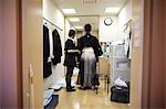Marié se préparer pour le mariage, Kanazawa, Ishikawa, région de Chubu, Honshu, Japon