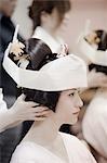 Bride Getting Ready for Wedding, Kanazawa, Ishikawa prefecture, Chubu Region, Honshu, Japan