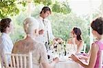 Braut und Bräutigam auf Hochzeit