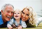 Grandparents enjoying grandson