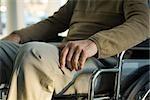 Behinderten im Rollstuhl