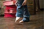 Mettre sur les jeans