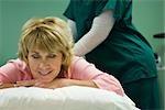 Woman enjoying back massage
