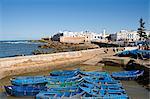 Port de pêche des bateaux, Essaouira, Maroc, l'Afrique du Nord, Afrique