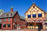 Architecture danoise sur la route de Alisal, Solvang, comté de Santa Barbara, en Californie centrale, États-Unis d'Amérique, Amérique du Nord