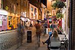 Café, Temple Bar, soirée, Dublin, Irlande, Europe