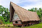 Men's meeting house at Belau National Museum Koror, Republic of Palau, Pacific