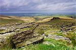 Northwest Dartmoor, viewed from Black Tor, Devon, England, United Kingdom, Europe
