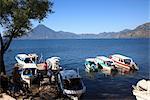 Boats, Lake Atitlan, Guatemala, Central America
