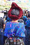 Maya femme en costume traditionnel, Santa Catarina Palopo, Santa Catarina, lac Atitlan, au Guatemala et Amérique centrale