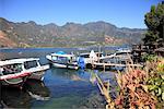 Boat dock, San Pedro, San Pedro La Laguna, Lake Atitlan, Guatemala, Central America