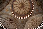 Sultanahmet mosquée plafond, Istanbul, Turquie, Europe