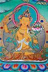 Manjushri, divinity of knowledge, Kopan monastery, Kathmandu, Nepal, Asia