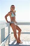 Portrait de femme, Zuma Beach, Californie, USA