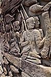 images de pierres taillées sur l'ensemble d'Angkor Wat, Cambodge