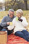 Couple Having Picnic, Eglinton Park, Toronto, Ontario, Canada