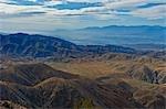 Indio Hills and Little San Bernardino Mountains, Joshua Tree National Park, California, USA