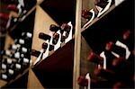 Nature morte de bouteilles de vin