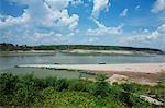 Plage de Saleung sur le fleuve Mékong, Village de Songkhawn, Province d'Ubon Ratchathani, nord-est de la Thaïlande
