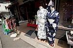 Kimonos, Kyoto, Kyoto Prefecture, Kansai Region, Honshu, Japan
