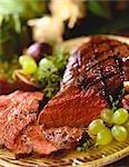 Partially Sliced Grilled Steak