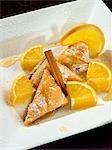 Baklava with Powdered Sugar, Orange, Honey and Cinnamon