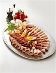 Sausage and ham platter