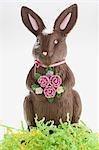 Un lapin de Pâques au chocolat