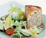 Pork pie avec salade (UK)