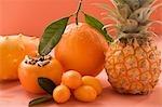 Exotic fruit, orange and kumquats