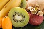 Bananas, kiwi fruit, kumquats and mangosteen