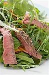 Steak salad (detail)