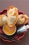 Dimsum frit aux deux sauces (Asie)