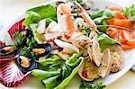 Antipasti of assorted seafood