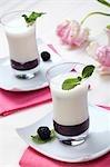 Blackberry Puree with Vanilla Flavoured Buttermilk
