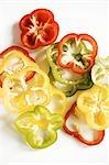 Tranches de poivrons assortis