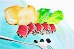 Seared tuna with sesame seeds and balsamic vinegar