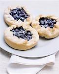 Trois tartes aux bleuets
