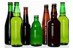 Verschiedene Arten von Bier in Flaschen