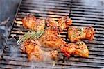 Hähnchenflügel mit Rosmarin auf Rauchen Grill