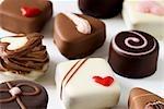 Assortiments chocolats pour la Saint Valentin