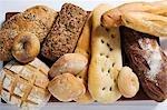 Verschiedene Arten von Brot und Brot Brötchen