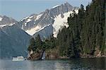 Kenai Fjords tour boat in Resurrection Bay near Seward, Alaska during Summer